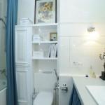 Готовый ремонт ванной в светлых тонах