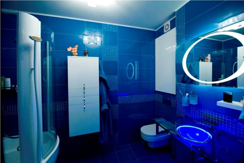 Ванная комната в синем цвете дизайн фото