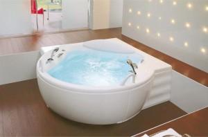 Фотография акриловой ванны джакузи