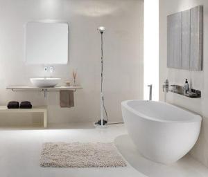 Фото ванной комнаты в белых тонах