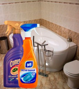 Популярные химические чистящие средства для ванны