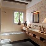 Уютный интерьер в ванной