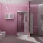 Дизайн санузла в розовых тонах