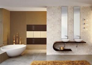 Пример ванной, в которой использована современная сантехника