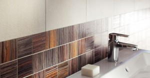 Пример использования данной плитки в организации дизайна ванной комнаты
