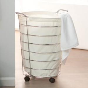 Металлическая корзина для белья
