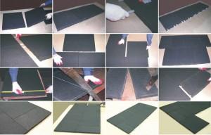 12 простых шагов укладки плитки из резины