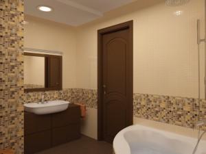 Пример использования мозаики в ванной комнате