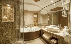 Фото отделки ванной мозаикой