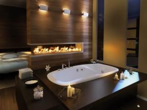 Фотография готовой ванной комнаты