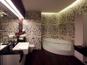 Фото завершенной отделки ванной комнаты