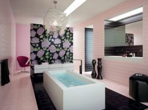 Фото ванной комнаты, при отделке которой были использованы пластиковые плитки
