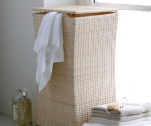 Фото плетенной корзины под белье