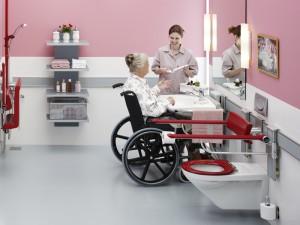 Пример использования раковины для инвалидов
