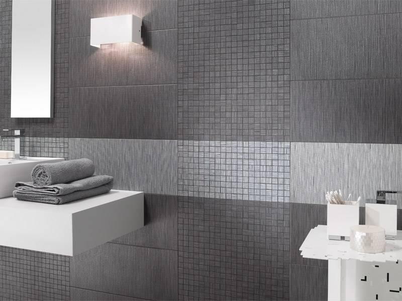 Дизайн ванной серого цвета