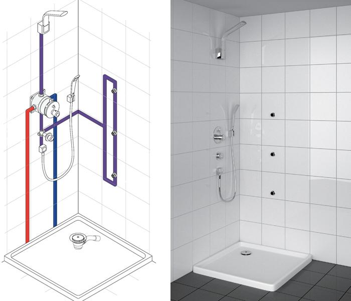 Монтаж смесителя для душа сантехника для ванной grohe