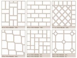 Популярные схемы раскладки плитки
