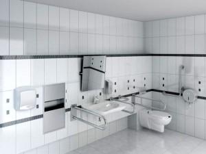 Фото оборудованной ванной комнаты для инвалидов
