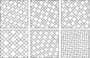 Основные варианты раскладки плитки