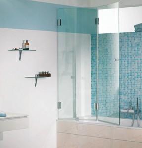 Фото стеклянных шторок для ванной