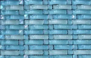 Голубая стеклянная плитка