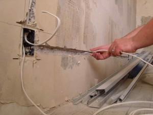 Фото прокладки электропроводки в ванной