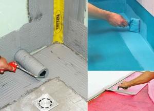 Процедура гидроизоляции ванной комнаты