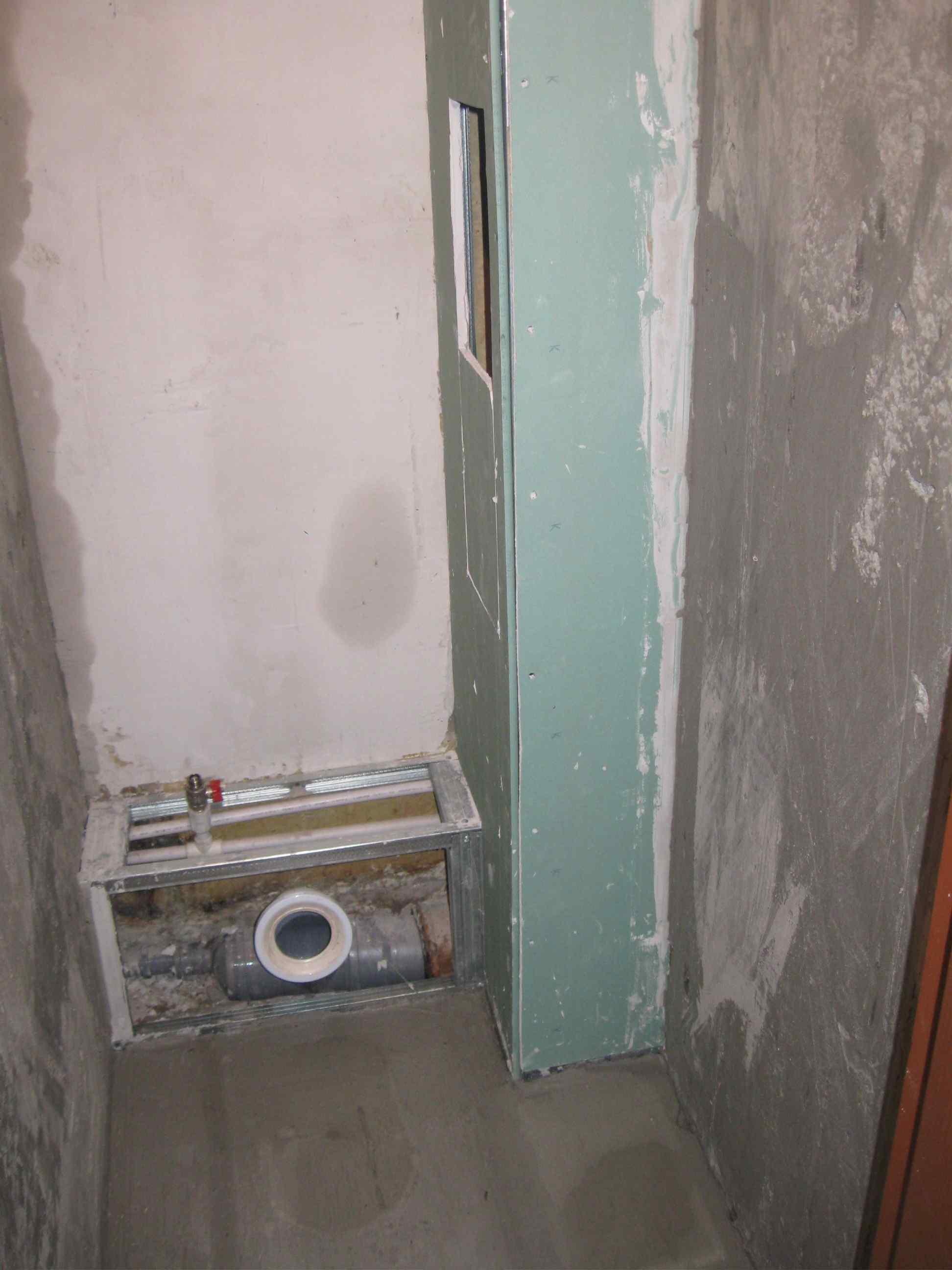 Как сделать короб в туалете из гипсокартона фото 929