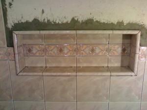Процесс монтажа ниша в ванной комнате