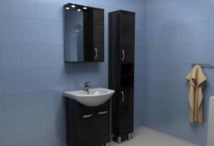 Черный пенал в ванную комнату