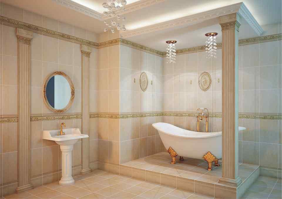 Ванная в классическом стиле фото