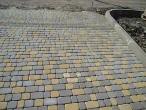 Фото уложенной бетонной плитки