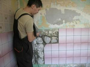 Фото демонтажа плитки