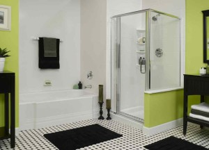 Фото дизайна ванной с душевой
