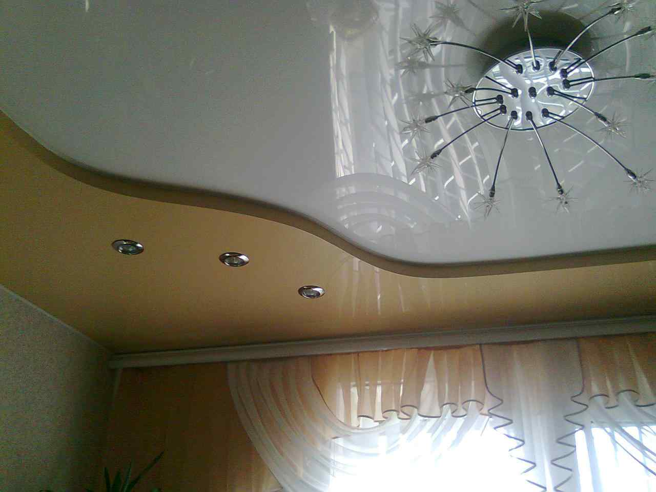 виды двухуровневых потолков из гипсокартона фото