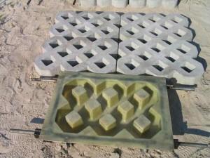 Резиновая форма для плитки