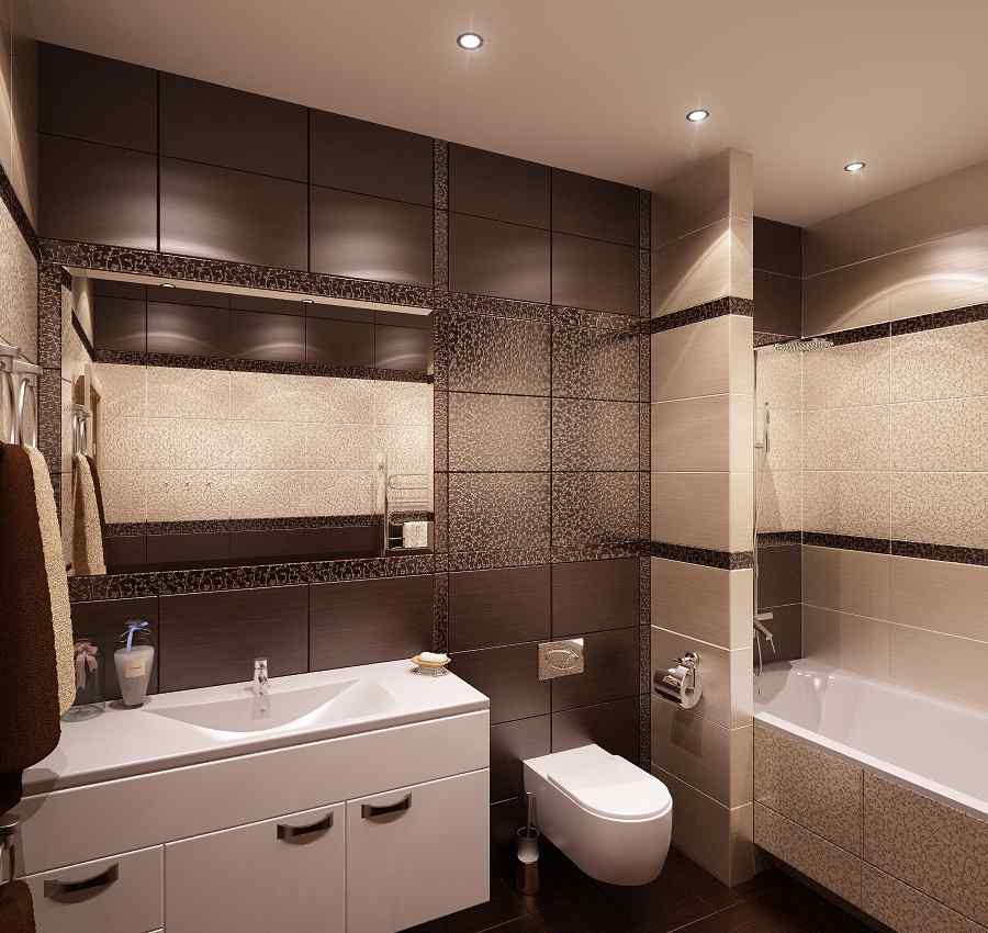 Кафель в ванной комнате дизайн