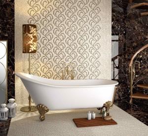 Фото китайской керамической плитки в ванной комнате