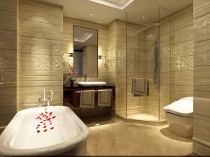 Фото ванной комнаты, которая была отделана китайской плиткой