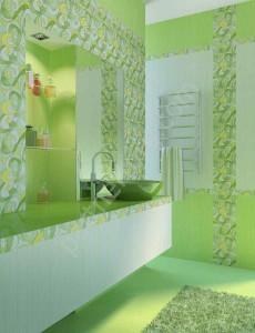 Фото окрашенного кафеля в ванной комнате