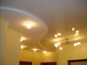 Подвесной потолкок из гипсокартона