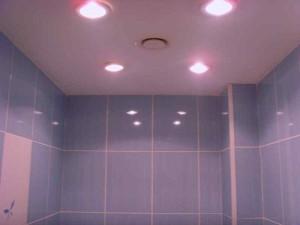 Фото установленных точечных светильников