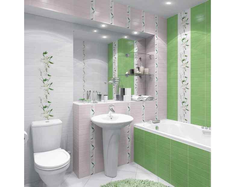 Варианты цвета плитки в ванной
