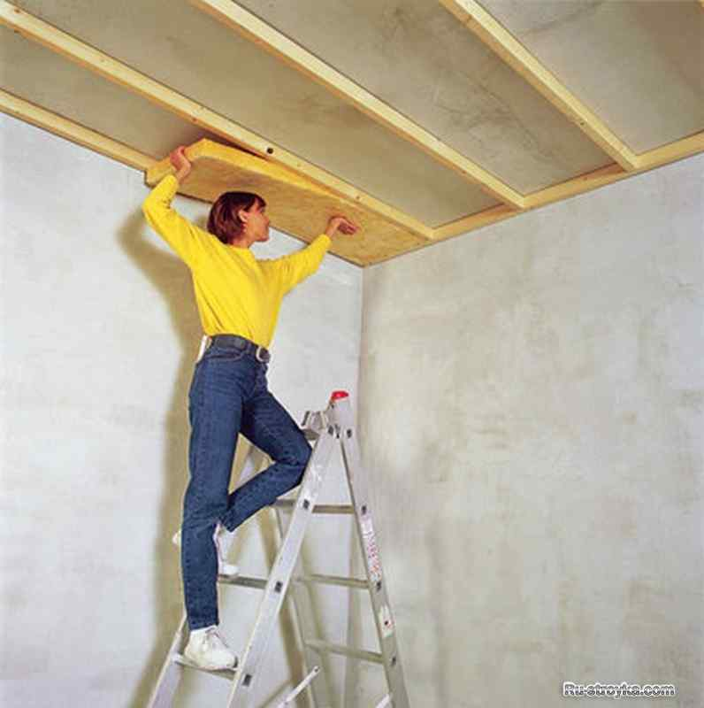 Звукоизоляция потолка Пеноплексом в квартире своими руками ...