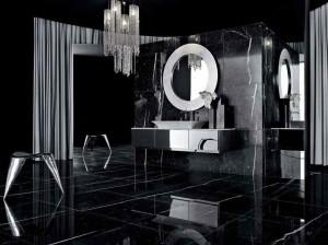 Фото дизайна черной ванной