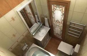 Фото готового дизайн-проекта ванной комнаты