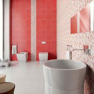 Фото красной плитки в ванной комнате
