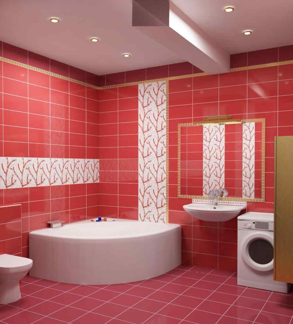 Ванная комната дизайн фото красная