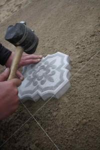 Процедура укладки плитки