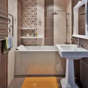 Фото плитки Керамин в интерьере санузла